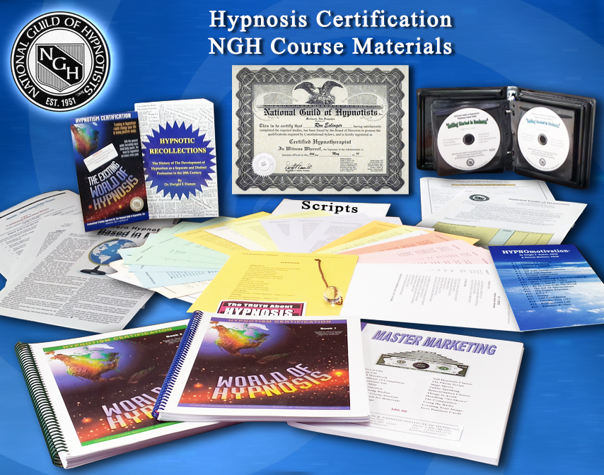 Hypnosis Certification Course Stufy Materials