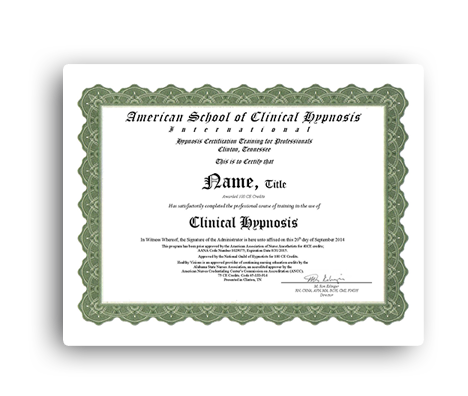 Certified Hypnotists Training-American School of Clinical Hypnosis ...